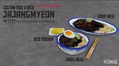 Mod The Sims - Jjajangmyeon - Korean Black Bean Noodles. Korean Black Bean Noodles, Chinese Stir Fry, Chinese Food, Sims 4 Stories, Sims 4 Kitchen, Pelo Sims, Sims 4 Clutter, Sims 4 Gameplay, Wicked