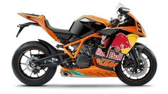 KTM RC8R 1190 Red Bull Limited Edition. The Red Bull rep will be similar to the KTM's recent Akrapovic/McWilliams Limited Edition RC8 replica. As such, the bike takes your standard RC8 R, adds some painted fairings, and offers a non-homologated race kit that boosts the final power figure to 180hp.