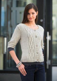 Familie Journal - strikkeopskrifter til hende Knit Jacket, Wool Yarn, Cable Knit, Knitting Patterns, Knit Crochet, Pullover, Model, Clothes, Dresses