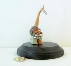 Ring Holder by ReaghansRose on Etsy Cute Rings, Looks Great, Barbie, Ring Holders, Etsy, Diy Ideas, Inspiration, Inspirational