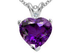 2.02 cttw Tommaso Design(tm) Genuine Amethyst and Diamond He