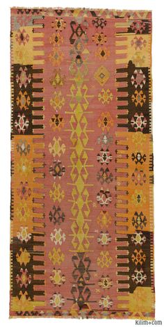 Vintage hand-woven Turkish Malatya kilim rug around 60 years old and in very good condition.