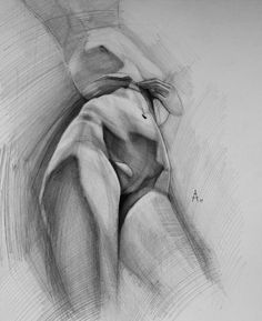 Female figure drawing by Andrey Samarin Gesture Drawing, Body Drawing, Anatomy Drawing, Anatomy Art, Life Drawing, Drawing Sketches, Painting & Drawing, Drawings, Watercolor Paintings