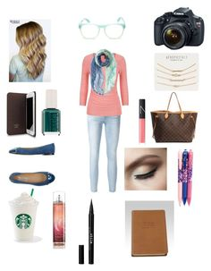 """New York in fall"" by swiftie1318 on Polyvore featuring Frame Denim, maurices, Bungalow 8, Salvatore Ferragamo, Eos, Wildfox, Essie, Aéropostale, NARS Cosmetics and Folio"