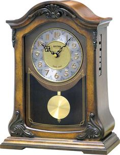 WSM Nice II by Rhythm Clocks -- You can find more details by visiting the image link. Best Wall Clocks, Cool Clocks, Antique Mantel Clocks, Mantle Clock, Rhythm Clocks, Clocks By Coldplay, Clocks Fall Back, Clocks For Sale, Wooden Case
