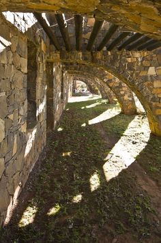 Coromandel Estate Manor House  Lydenburg, South Africa. 1975  Architect:  Marco Zanuso Highland Homes, Atrium, Greenery, Sidewalk, Castle, Rustic, Landscape, Highlands, Arches