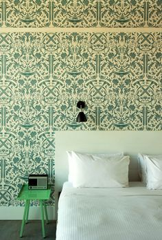 We really would like to spend a lot of time in this bedroom. Wythe Hotel.