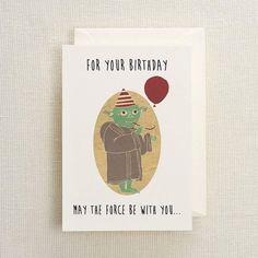 Chewbacca birthday card chewbacca birthdays and etsy yoda birthday card bookmarktalkfo Choice Image
