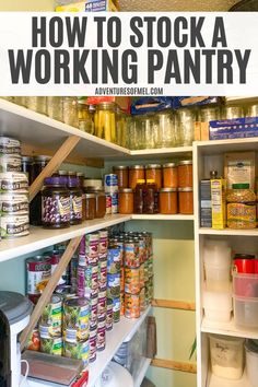How to stock a working prepper pantry, with ideas for food and household supplies, recipes for meals, storage ideas, and a free printable checklist. Survival Shelter, Wilderness Survival, Survival Prepping, Emergency Preparedness, Survival Skills, Survival Gear, Survival Quotes, Outdoor Survival, Emergency Food