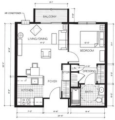 One Bedroom Apartment Layout 1 bedroom apartment floor plans 500 sf | 350 x 294 21 kb jpeg one