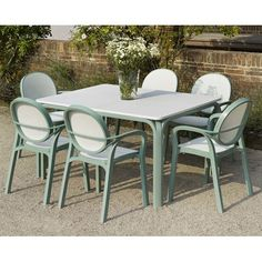 Lauro Edelweiss Rectangular 6 Seater Dining Set