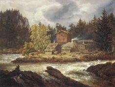 Johan Christian Dahl (1788–1857): View of Honefossen, 1847