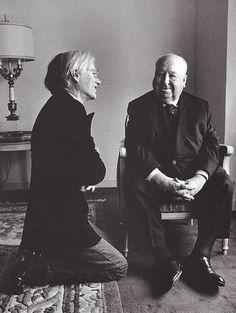 Andy Warhol and Alfred Hitchcock