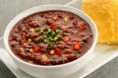 Easy 3-Bean Vegetable Chili from the 7 day crash diet (Dr. Furhman) on Dr. OZ