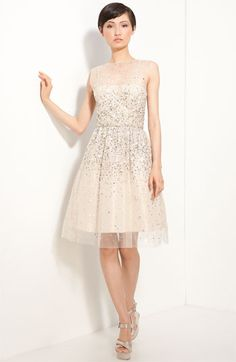 'Alyssa' Embellished Dress / Alice + Olivia