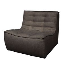 The Ethnicraft Slouch sofa chair boasts an inviting design that contrasts with the subtly coarse fabric upholstery. With sturdy construction and contemporary design, the carefully placed stitching enhances the plushn Grey Armchair, Sofa Chair, Solid Wood Furniture, Furniture Design, Furniture Ideas, Cushions On Sofa, Furniture Collection, Modern Frames, Place