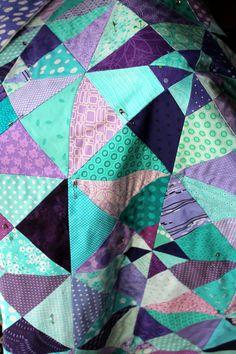 wip aqua purple quilt