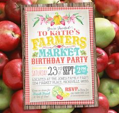 Farmer's Market Invitation - SassabyParties.com