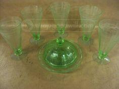 shopgoodwill.com: Green Depression Glass Set