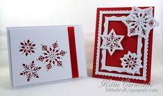 Snowflakes Two Ways.  Impression Obsession Snowflake Cutout.  Source:  http://www.kittiekraft.com/2014/09/snowflakes-two-ways.html