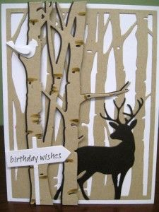 Ink Paper Rubber - Overland Park, KS - tree and deer card