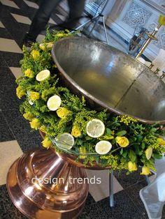 Lemons, lemons, lemons........ Christening Cookies, Christening Decorations, Baby Boy Christening, Christening Gifts, Church Flower Arrangements, Church Flowers, Floral Arrangements, Funeral, Baptism Ideas