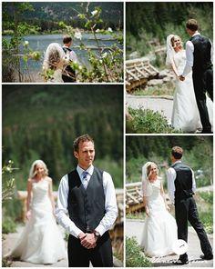 Beautiful bride and groom pictures at this Estes Park, Colorado mountain destination wedding. One of the top new destination wedding trends - great scenery! www.estesparkcvb.com/groups.cfm Flourish Studio Photography 2013-01-10_011
