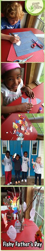 Fishy Father's Day DIY Project @Green Kid Crafts: Eco Friendly Activity Kits