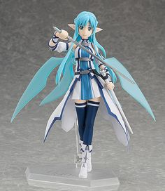 From the anime series, Sword Art Online II, here comes a figma of Asuna or also known as Berserk Healer in her ALfheim Online avatar! A must for all fans of Asuna! Sword Art Online Asuna, Sword Art Online Figures, Arte Online, Online Art, Toys Online, Marchandise Anime, Anime Toys, Neko, Action Figures Anime