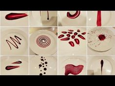 20 Different plating techniques | simple techniques for sauce/gel | art on plate | by Monika Talwar - YouTube