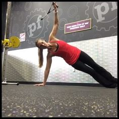 Mix up your plank with added resistance (and instability!!) from the cable machine. #FYFmethod #fitness #bodybuilding #girlswholift #gains #progresspic #abs #plank #fitfam #gymflow #workout #healthy #fatloss #strengthtraining #weights #fitgirl #inspiration #motivation #workoutwednesday