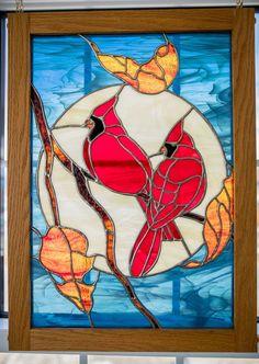 Cardinals  Judy Miller pattern Cardinals, Quilt Patterns, Stained Glass, Quilts, Painting, Art, Craft Art, Comforters, Quilt Pattern