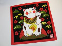 Japanesei fabric furoshiki wrapping cloth by japanmomijidesigns, $16.00