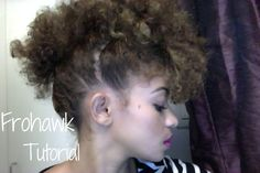 Frohawk Tutorial on Natural Hair - This one looks really clean and good. I like this one.
