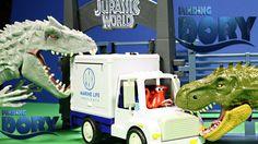 New Finding Dory Disney,Pixar Dory Aquarium Truck Vs Jurassic World Dino...