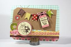 Card made with the #epiphanycrafts Shape Studio Tool Pennant. #cards