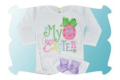 My First Easter Applique (with girly, swirly, curly fonts) is perfect for the little girl on your list!