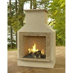 The San Juan Outdoor Gas Fireplace available at Living Outfitters. This outdoor fireplace is the perfect centerpiece for your patio. On sale now.