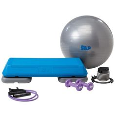 This kit includes everything you need for a home gym. The kit includes: The Step home trainer, stability ball with pump, dumbbells, resistance band and Body Fusion workout DVD. Fusion Sport, Step Workout, Home Workout Equipment, Fitness Equipment, Training Equipment, Aerobics Workout, Step Aerobics, Workout Essentials, Stability Ball