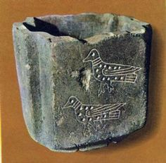 Carved stone vessel from Hagia Triada. Heraklion Archaeological Museum.