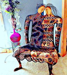 Marilee's Personal Art Chair, Gustav Klimt inspired metalwork(I own this)