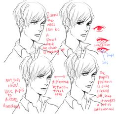 How to draw eyes male reference