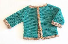 Instrucciones escritas y en diagramas de como tejer cardigan para bebe. ¡Perfecto como regalo de babyshower ya que es talla de 0 a 3 meses!.