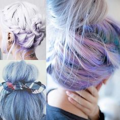 pastel updo hair color ideas for spring summer 2015
