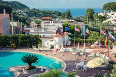 Thermal pool @ Hotel Internazionale Ischia - info@hotelinternazionaleischia.com, Via Acquedotto 33, 80070 Barano d'Ischia NA,  Tel: +39081901315 Outdoor Swimming Pool, Swimming Pools, Thermal Pool, Hotel, Island, Mansions, House Styles, Outdoor Decor, Outdoor Pool