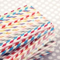 Paper straws (site also sells little milk bottles too!)