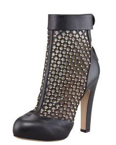 Studded Lattice Boot by Valentino at Bergdorf Goodman.