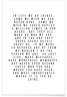 Life Is Beautiful als Premium Poster von Letters on Love | JUNIQE