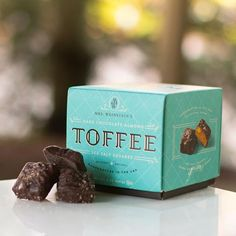 Mrs. Weinstein's Toffee Dark Chocolate Almond Sea Salt Toffee Squares, 8oz/1 lb-Exquisite Decadent Crunchy Flavorful Melt in your mouth! rich all butter, all natural dark almond sea salt toffee, serving size 1 piece=80 calories, 6 g fat, cholesterol 10mg, sodium 100mg, carbs 6g;16 servings, pricey