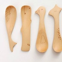 Zakka small animal style japanese style eco-friendly tableware wooden spoon butter spoon jam spoon